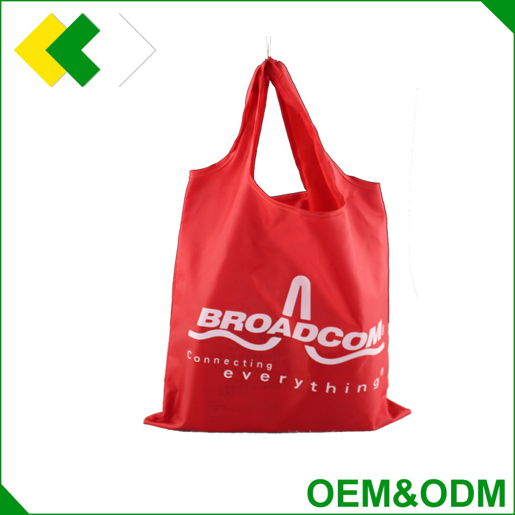 2016 hotsale new design foldable polyester shopping bag Customized commercial food packaging laminated bag