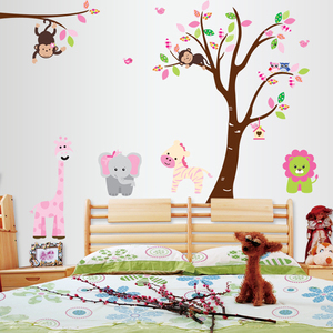 Removable kids room decor 3d wall stickers