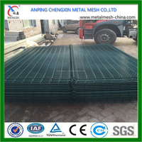 Plastic coated green Welded Wire Mesh Panel