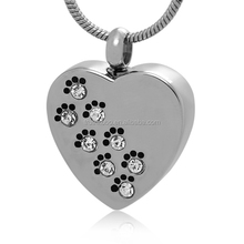 new design gold pet cremation urn ash pendant jewelr