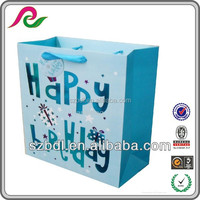 2015 best selling items quality gift paper packaging bag