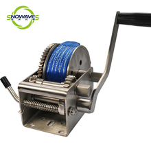 2000 LB Stainless Steel Boat Winch Trailer Hand Crank Winch Manual Hand Winch
