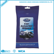 Unscented Non-Woven Vehicle White Cleaning Car Wet Wipe Vendor