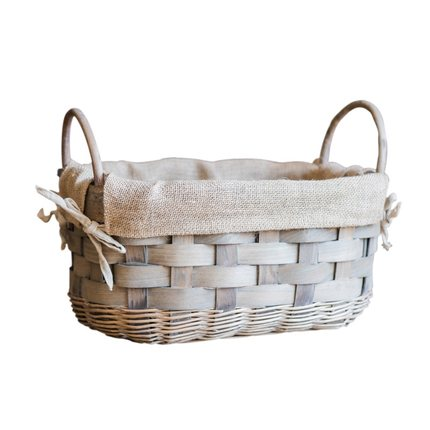 Cane oval cosmetic basket gift baskets empty