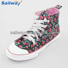 link wholesale girls shoes flower printing shoes