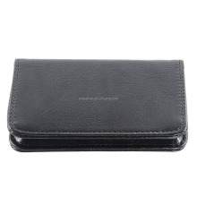 Business Card Holder Wisdompro 2-Sided PU Leather Folio Name Card Holder Wallet Case with Magnetic Shut for Men and Women, Ultr