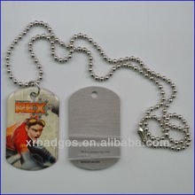 metal dog tag Punching low price blank or Color printing epoxy