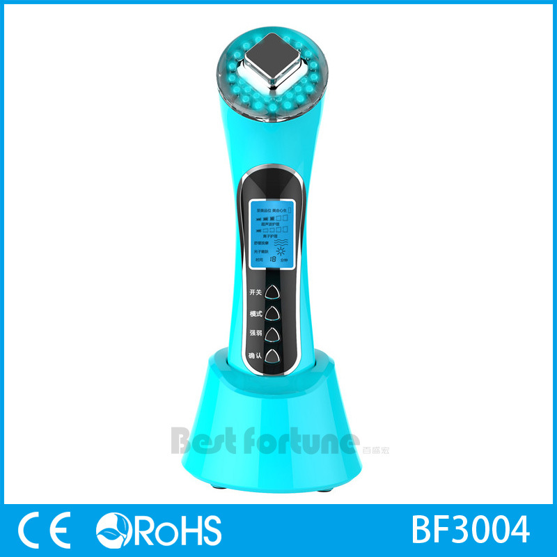 Home Ultrasonic Ion Face Massage Cleanser Photon Therapy Beauty Machine