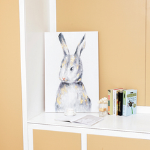 Animal series rabbit bunny painted wall decoration canvas paintings