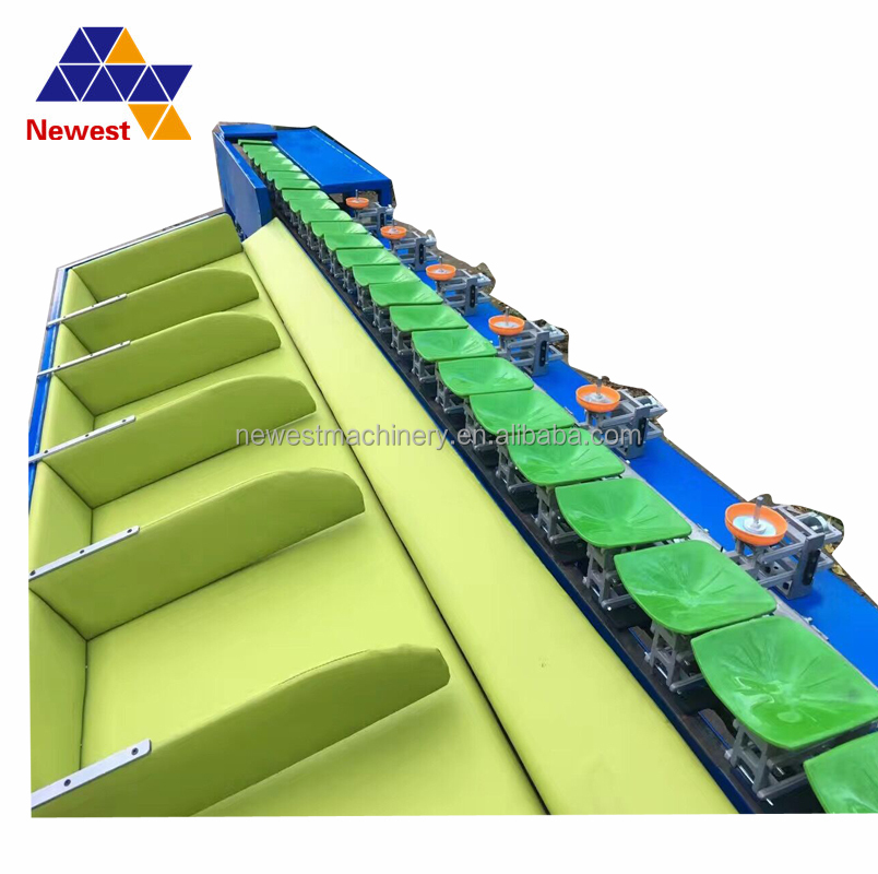 Ce approve drying and grading line/vegetable and fruit sorting machine/apple washing waxing sorting machine line