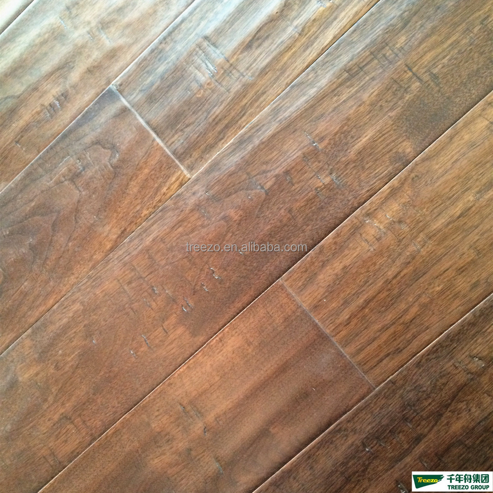 factory price rustic black walnut engineered wood flooring Brushed/ Antique/hand scraped/hand craft/flat/distressed