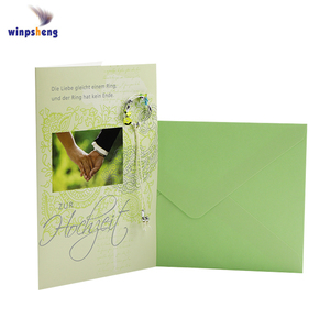 Fancy letter design creative souvenir gift card box wedding invitation card