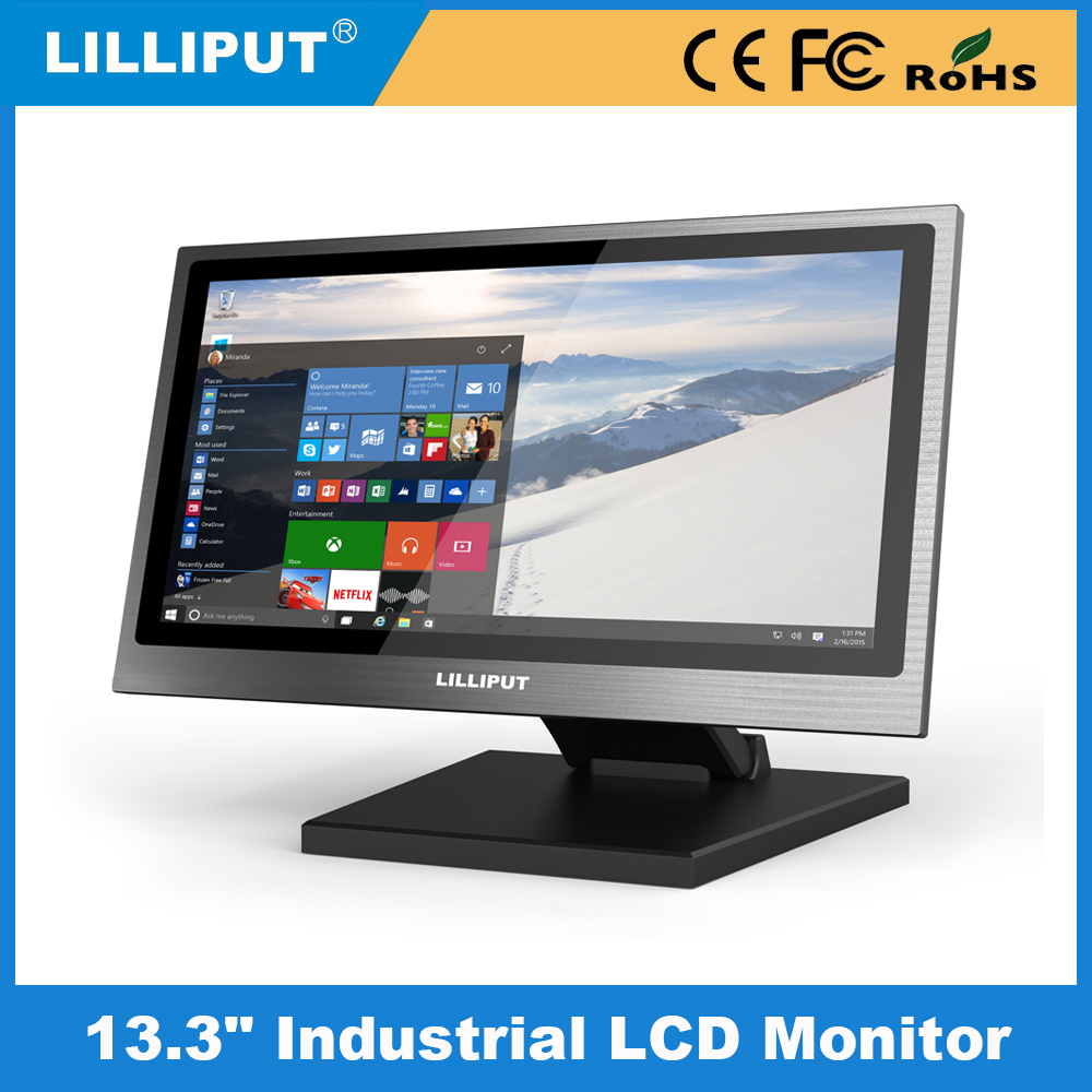 "Hot Sale 1920X1080 13.3 Inch LCD Monitor VGA DVI input DC 12V 13.3"" LED Monitors"