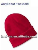 red Acrylic Hat