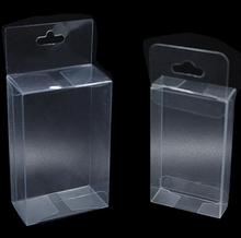 PVC Clear Plastic Packaging Boxes with Hang Hole Small Craft Gift Wedding Party Favor Transparent Package Box