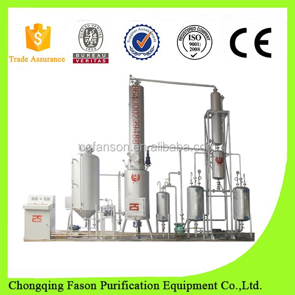 Multi-function waste engine oil to base oil convert distillation plant