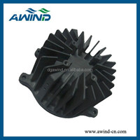 round aluminum alloy extrusion heat sink with 6063 6061 t5 t6