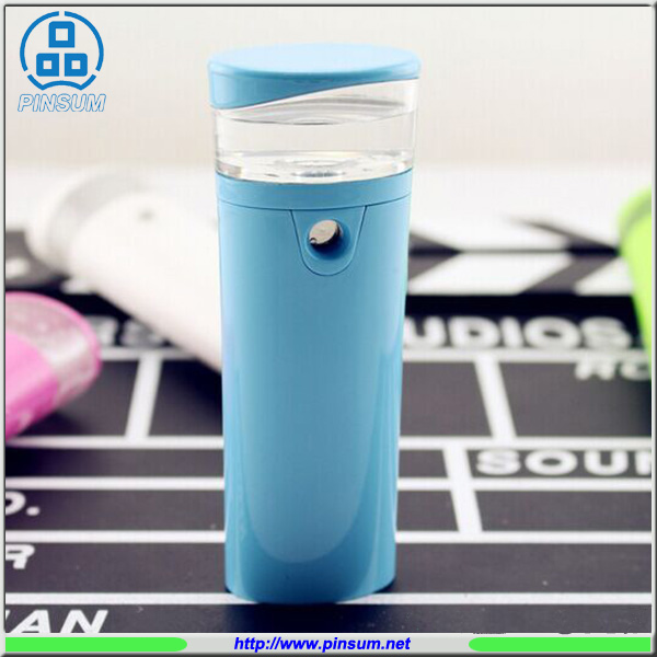 Nano spray power bank 2600mah water bottle power bank 18650 battery mobile charger