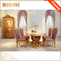 European Elegant Palace Dining Room Furniture / French Classical New Design Floral Vivid Wooden Carving Dining Room Table Set