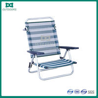 Easy relax beach aluminum backrest inclination folding chair