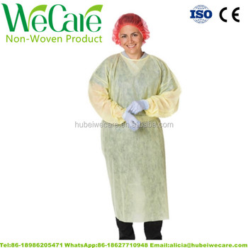 Breathable PP Nonwoven Mess sale isolation blue surgical gown