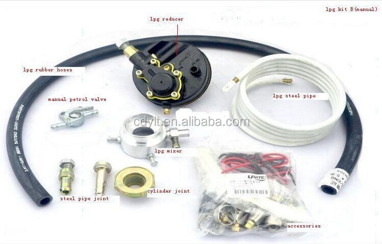 lpg kit for tricycle for 3 wheel motorcycle spare kits