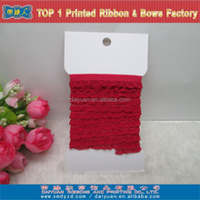 Lingerie Red Elastic lace ribbon tape