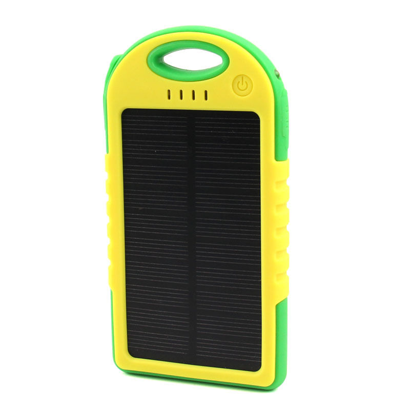 Full capacity 5000mah solar charger power bank,portable laptop solar power bank charger