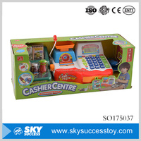 Promotional pretend play ABS cashier center toy cash register