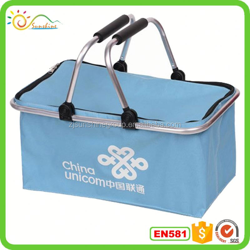 Collapsible lady shopping cabas basket