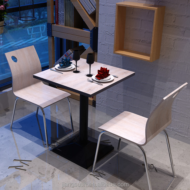 high-end wooden water-proof Formica HPL western restaurant table with laminate sheets and scratch resistant for coffee shop