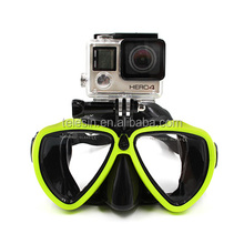 Silicone Diving Glass Mask with Detachable Screw Mount Diving Mask for Sports Camera Go Pro Hero3/3+/4