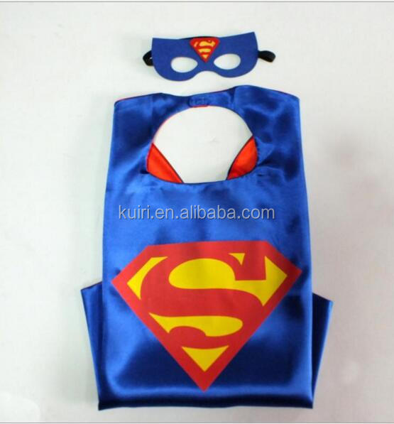 China supplier super hero Felt Mask and cape for party online shopping