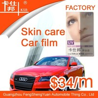 New model skin care blue film,car sticker,car window film for well