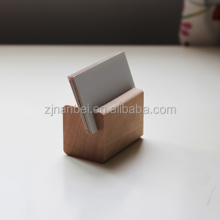 Natural painting wooden card / phone holder
