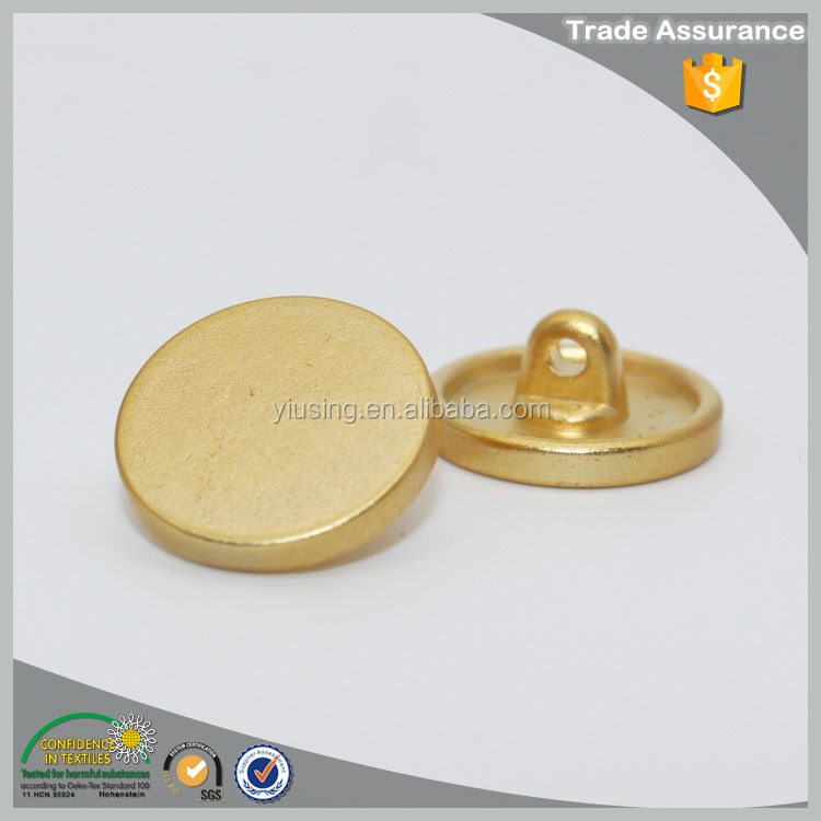 Lead-free zinc alloy dull gold metal sew button for sweater