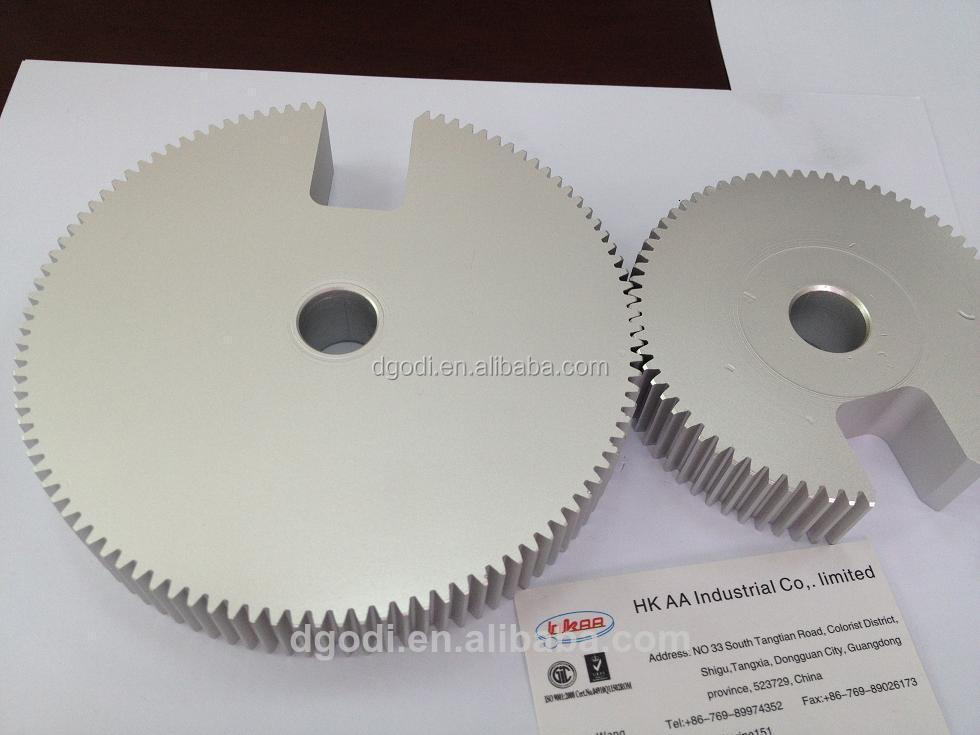 Notched stainless steel spur gear