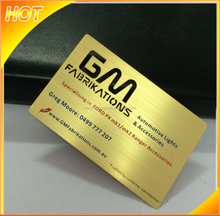 High-end quality custom gold brushed metal business card