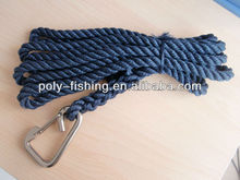 Navy Blue Twisted Polyester Rope With Hook
