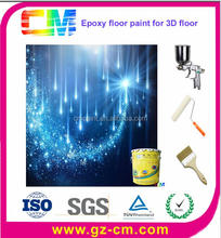 Hot Sale Home Decor Artistic Clear Removable 3D Epoxy Floor Coatings