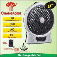 8inch Rechargeable Emergency Solar Fan Small