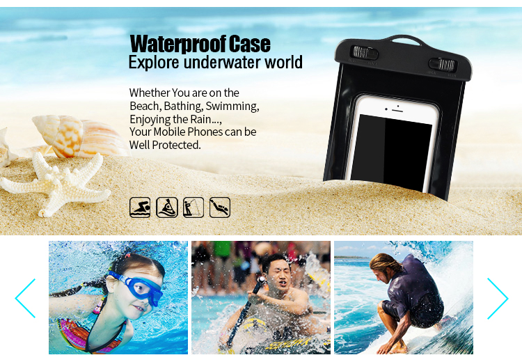 Free sample  Water Proof PVC Mobile Phone Cases Waterproof Bag/Pouch