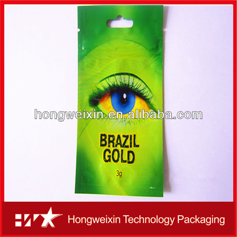 printed brazil gold eyes 3g packing spice bag