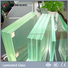 6mm+0.38mm+6mm laminated glass for solar panels