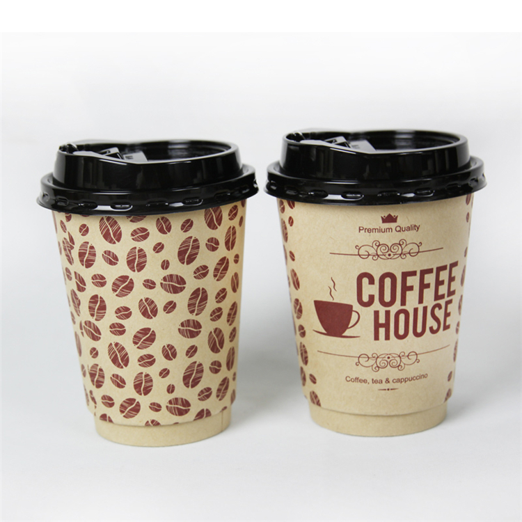 Customized pulp paper double coffee mug