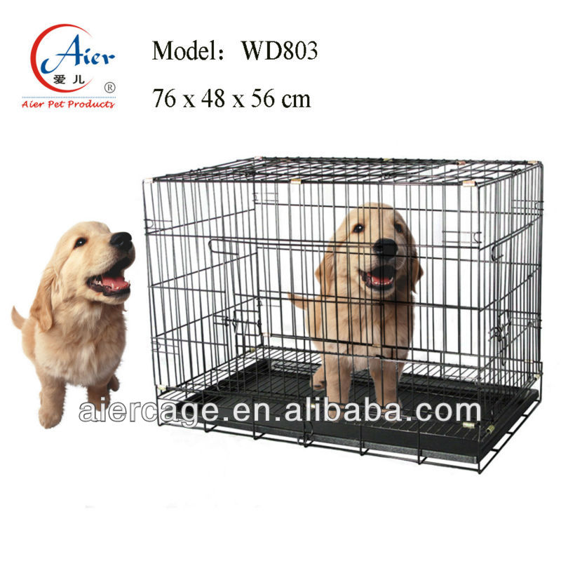 folding iron wire portable dog cages