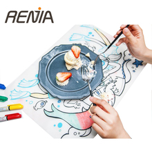 custom printing Amazon doodle Coloring drawing table Placemat children Silicone Drawing Mat For <strong>Kids</strong>