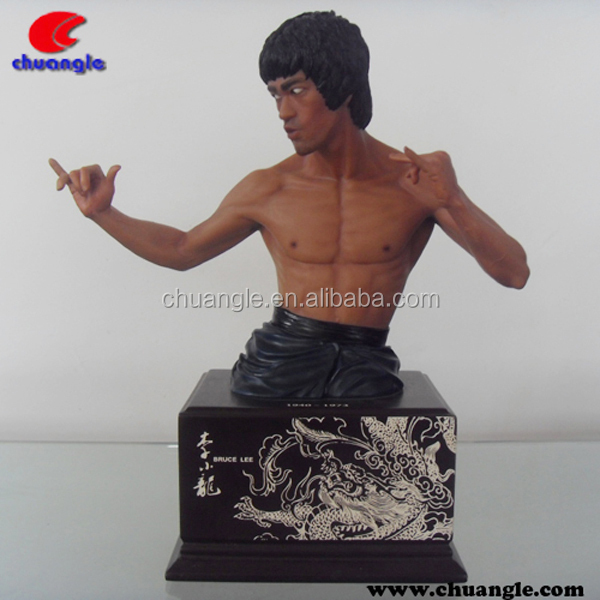 Bruce Lee Figurine, Bruce Lee Bust Statue , Bruce Lee Collectible Craft