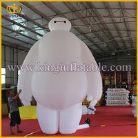 Outdoor Giant Inflatable Big Hero 6 Baymax Robot Cartoon Model For Sale