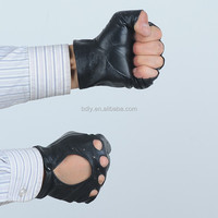 2015 Professional Leather Gloves Manufacture, Leather Gloves Cut Finger for Women